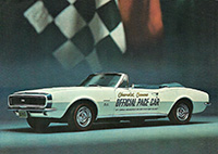 1967 Chevrolet Camaro Indy Pace Car Postcard