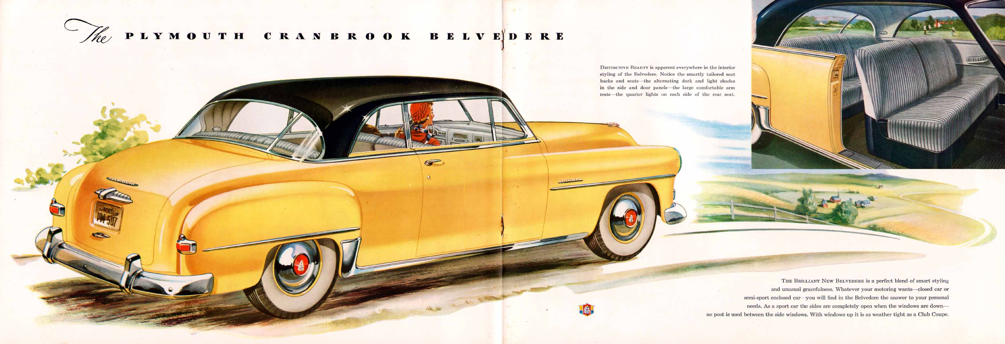 Old Car Dealers >> Image: 1951 Plymouth Brochure/1951 Plymouth Brochure-14-15
