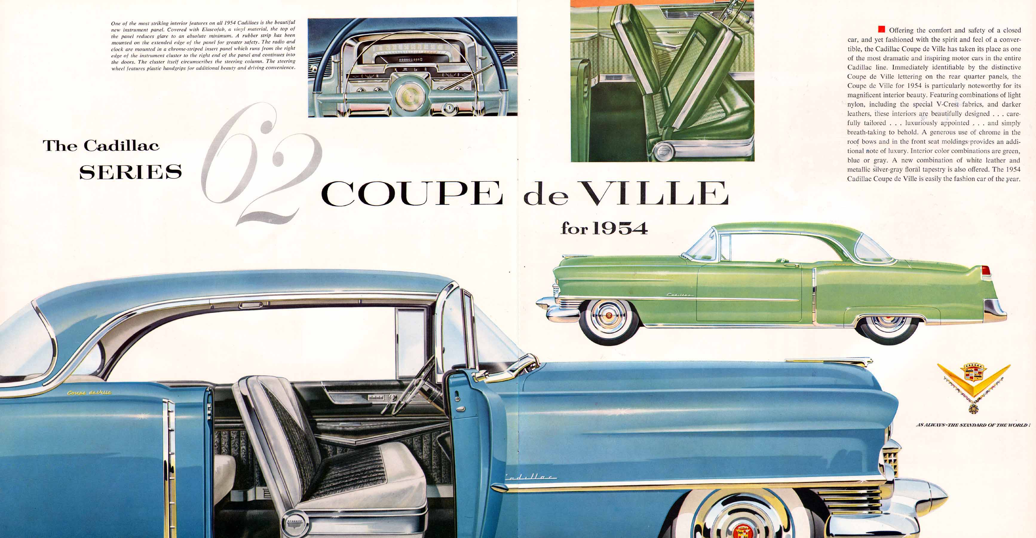 Old Car Dealers >> Image: 1954 Cadillac Brochure/1954 Cadillac Brochure-15-16