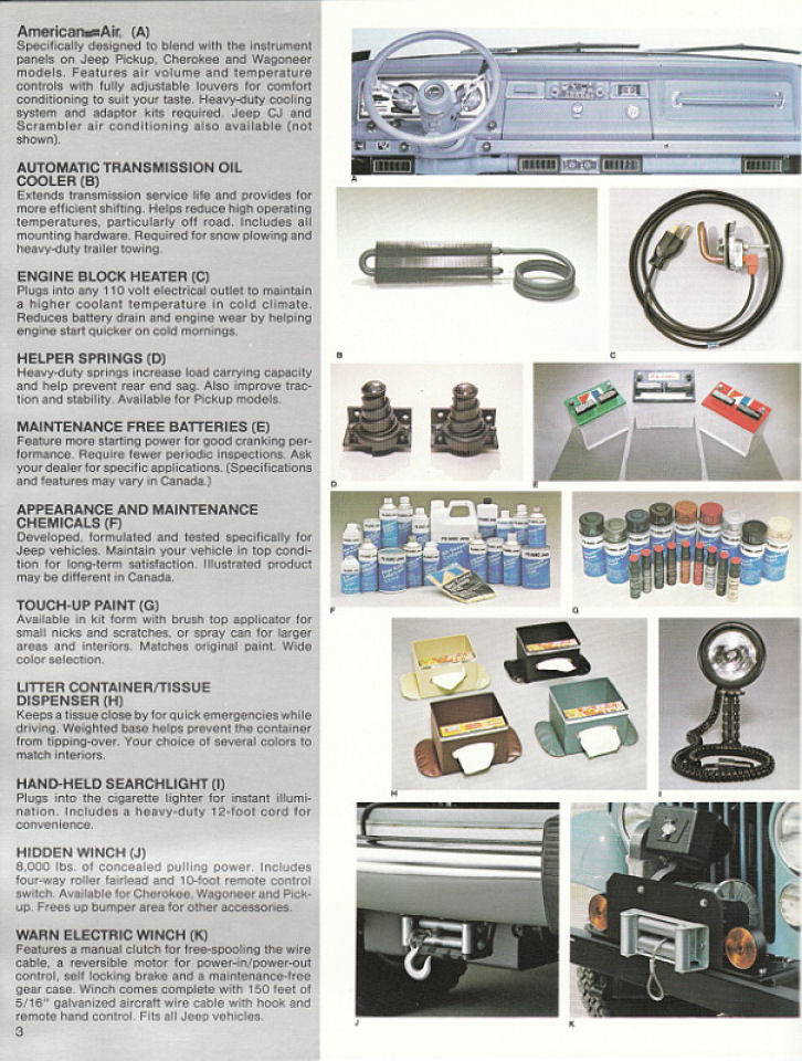 image 1982 jeep accessories 1982 jeep accessories catalog 03. Cars Review. Best American Auto & Cars Review