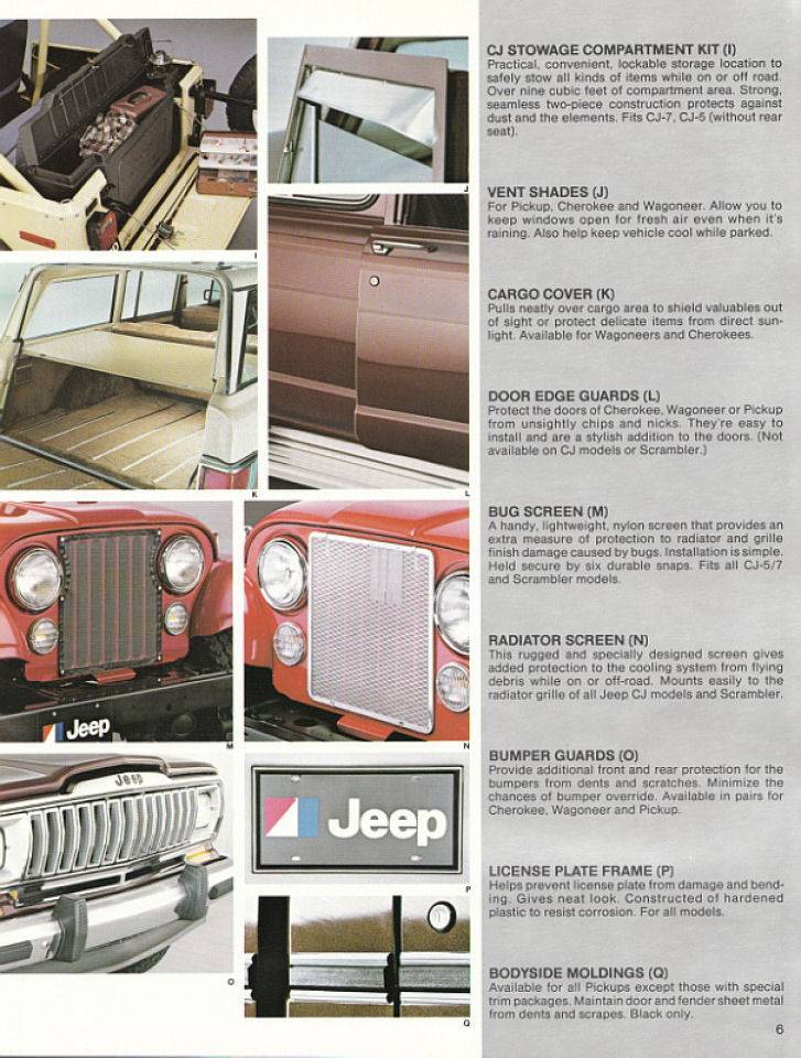 image 1982 jeep accessories 1982 jeep accessories catalog 06. Cars Review. Best American Auto & Cars Review