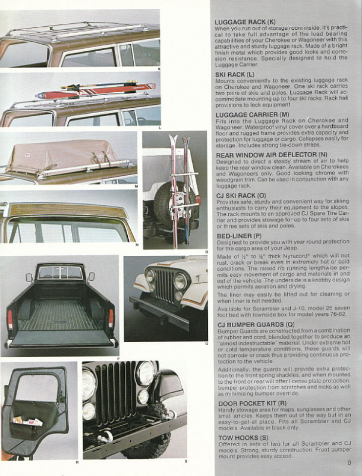 image 1982 jeep accessories 1982 jeep accessories catalog 08. Cars Review. Best American Auto & Cars Review