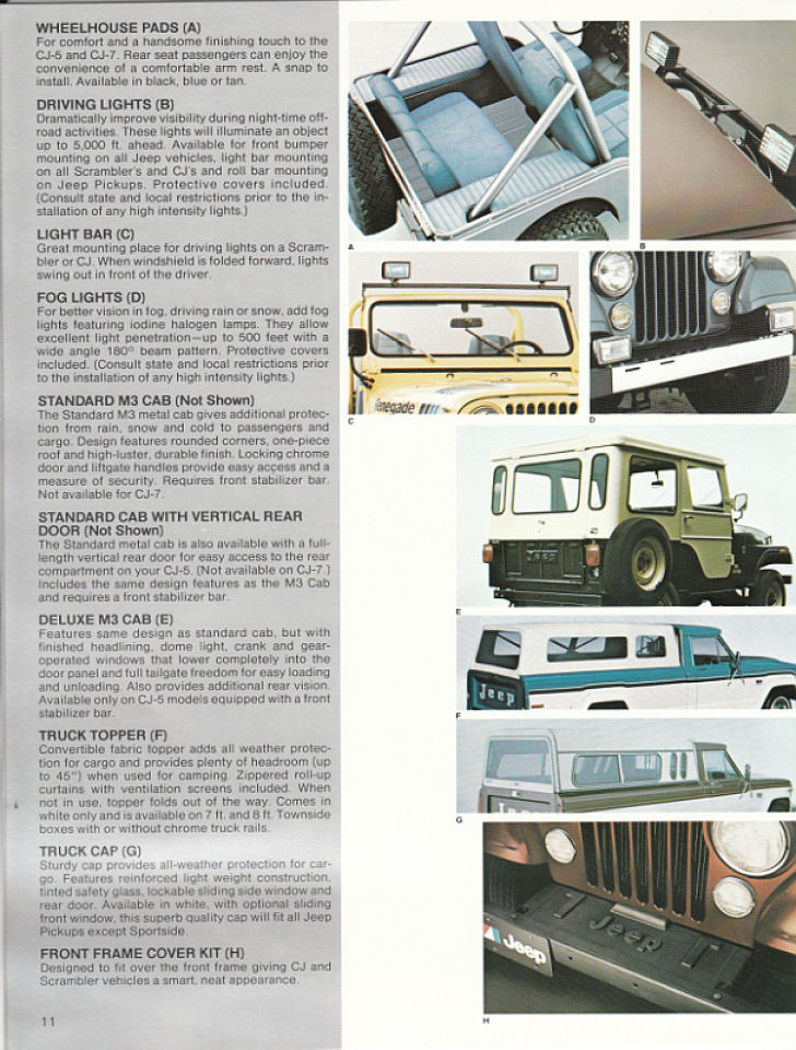 image 1982 jeep accessories 1982 jeep accessories catalog 11. Cars Review. Best American Auto & Cars Review