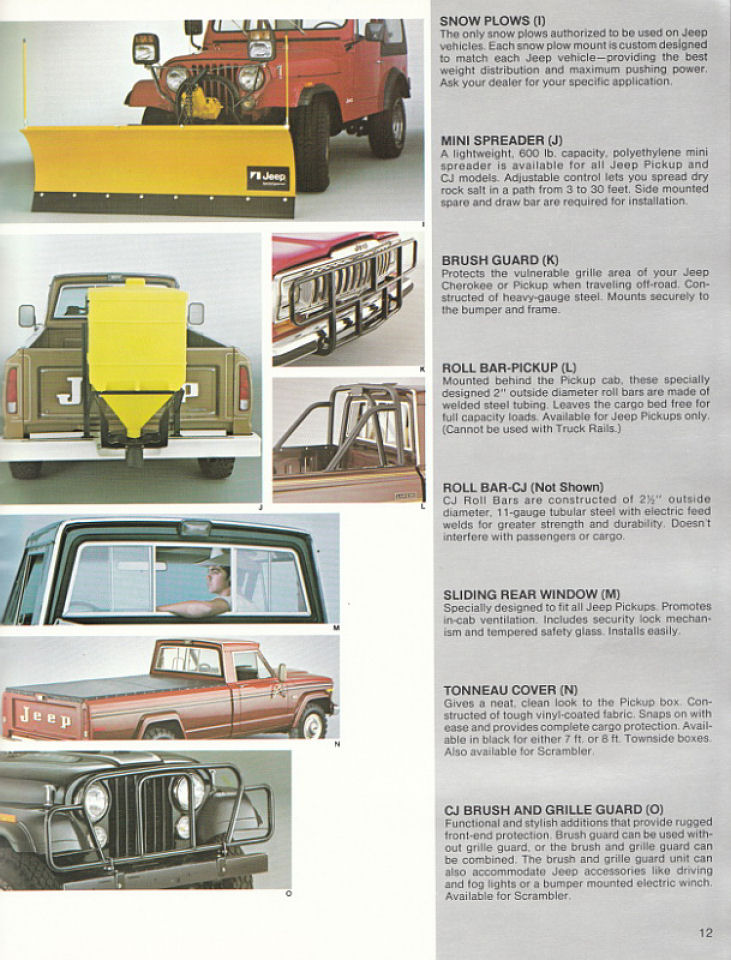 image 1982 jeep accessories 1982 jeep accessories catalog 12. Cars Review. Best American Auto & Cars Review