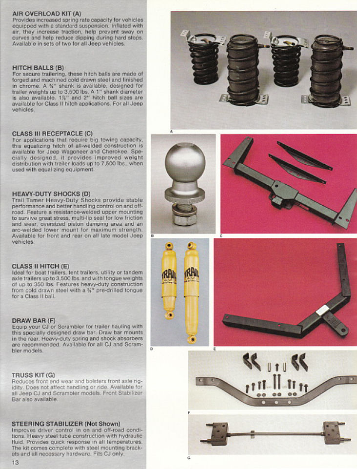 image 1982 jeep accessories 1982 jeep accessories catalog 13. Cars Review. Best American Auto & Cars Review