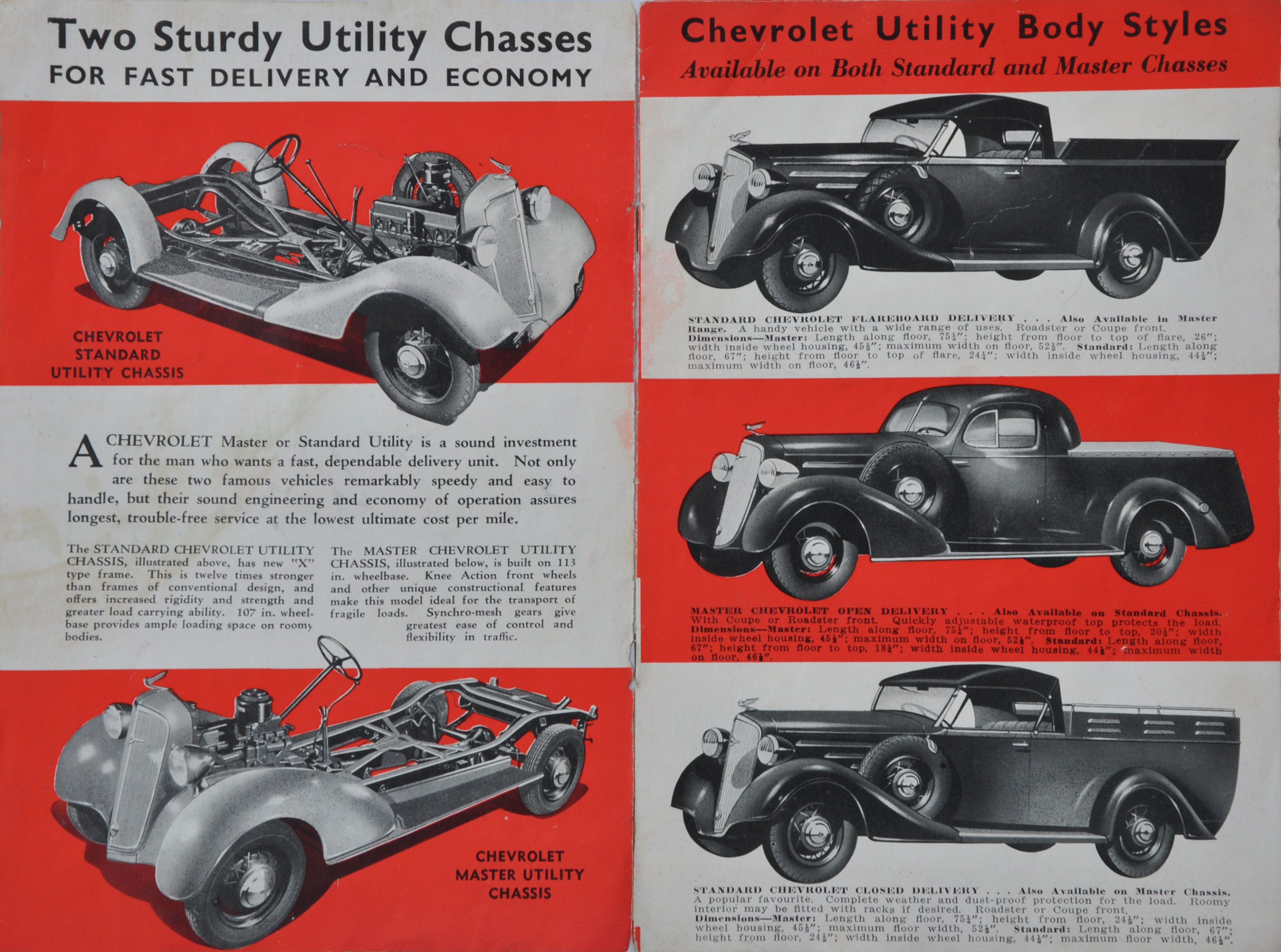 1935 Chevrolet Utility Vehicles Brochure