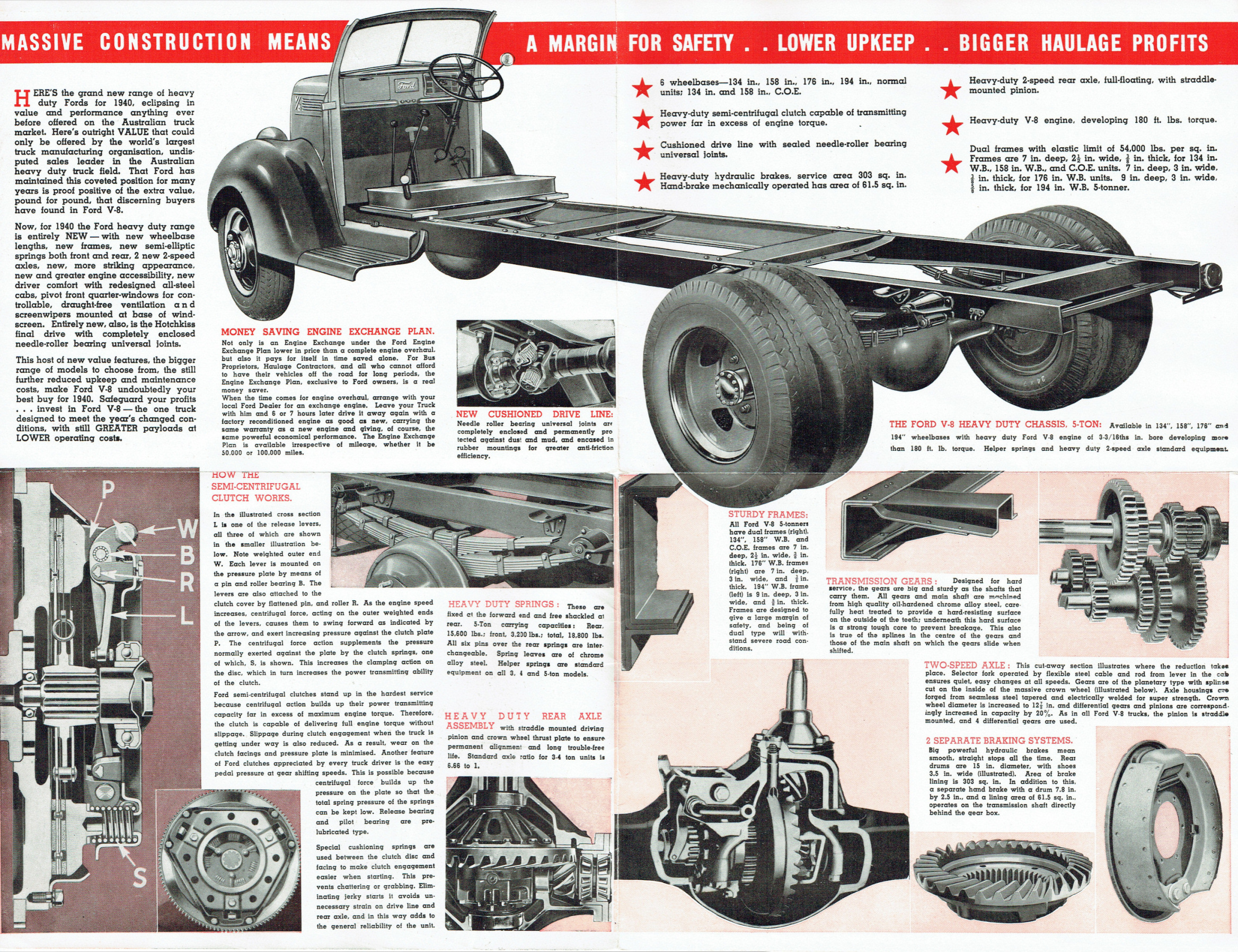 1940 Ford Large Trucks Foldout