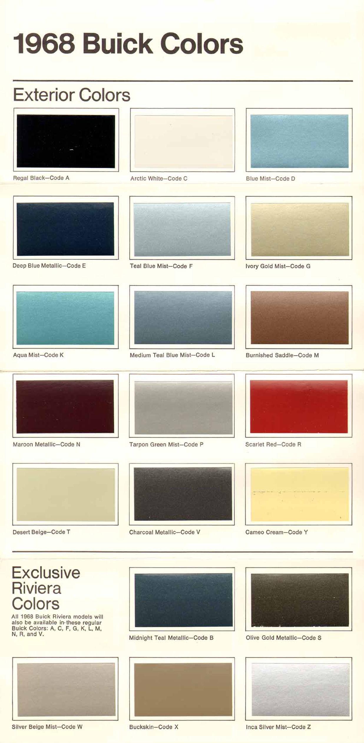 Buick Paint Colors