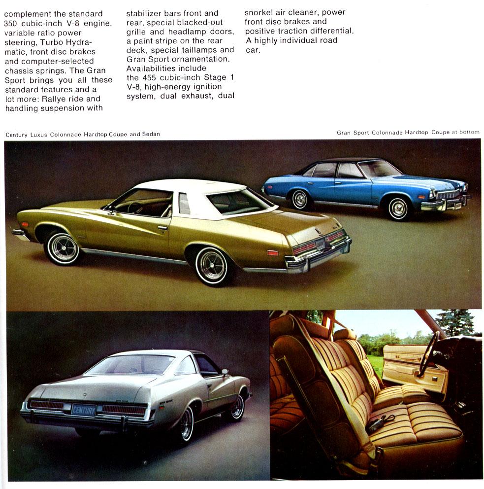 Buick Full Size Car: 1974 Buick Century Brochure