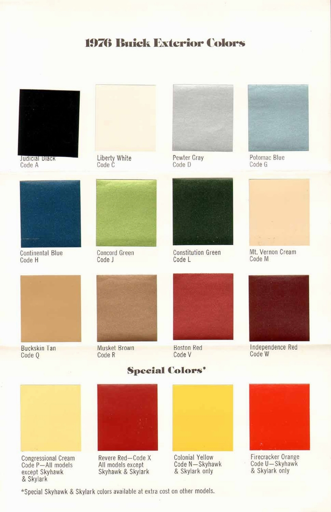 Car paint color codes chart
