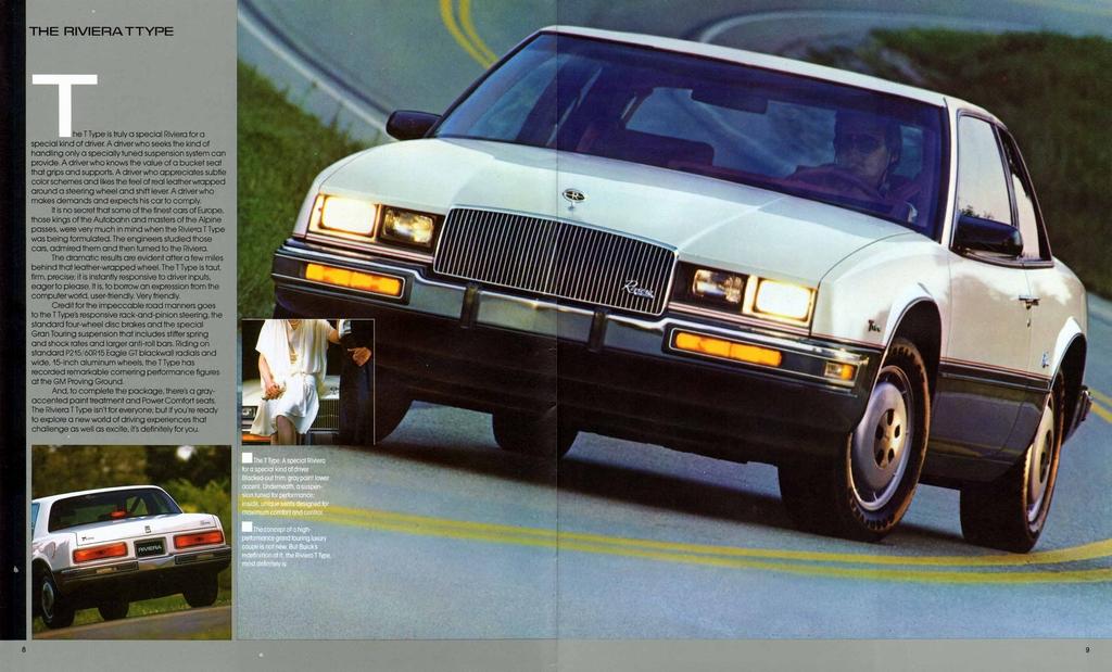 1986 buick riviera prestige brochure. Black Bedroom Furniture Sets. Home Design Ideas