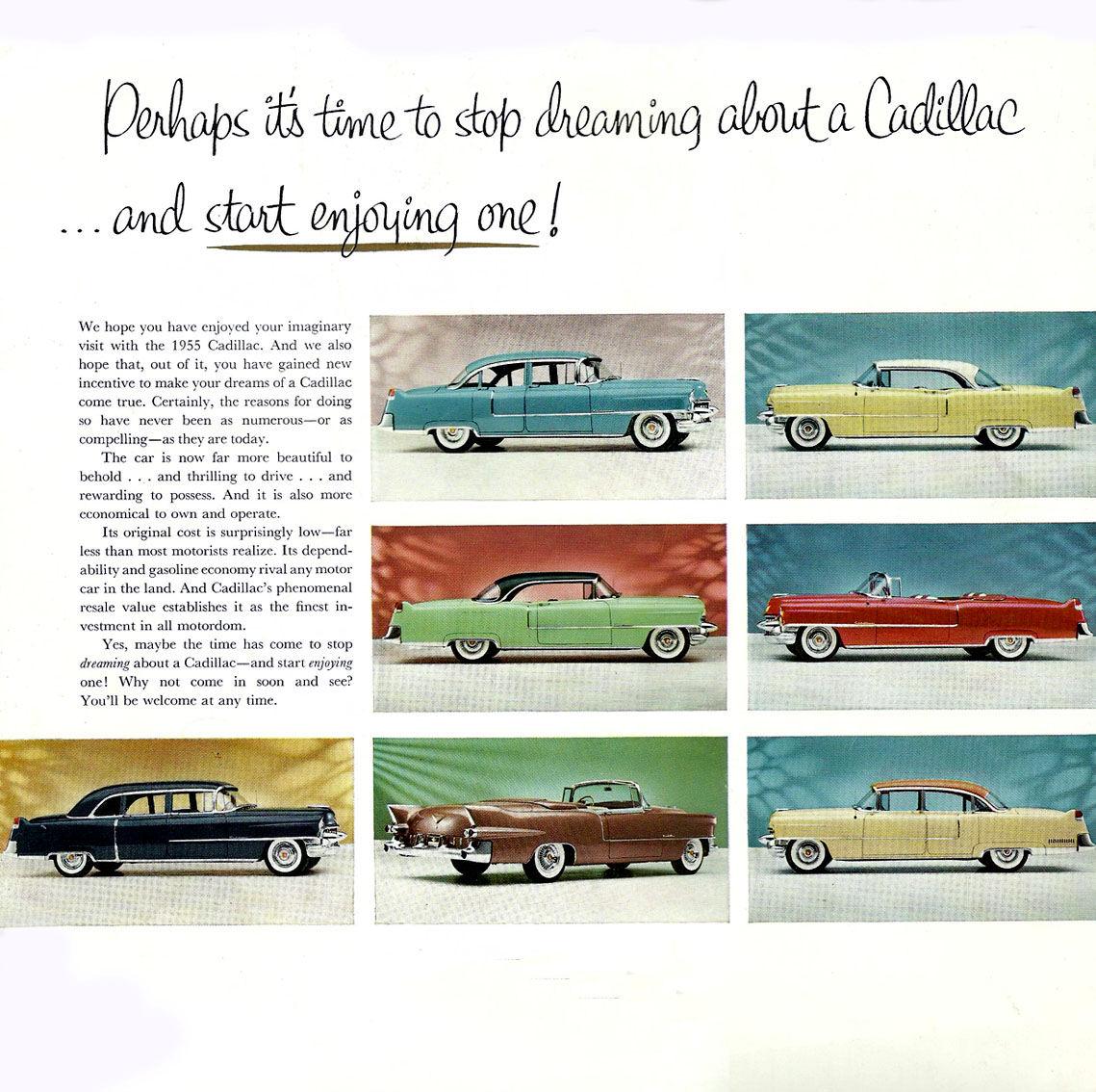 1955 Cadillac Handout Brochure