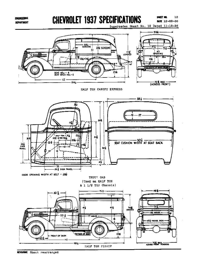 Directory Index: Chevrolet/1937_Chevrolet/1937_Chevrolet_Specifications