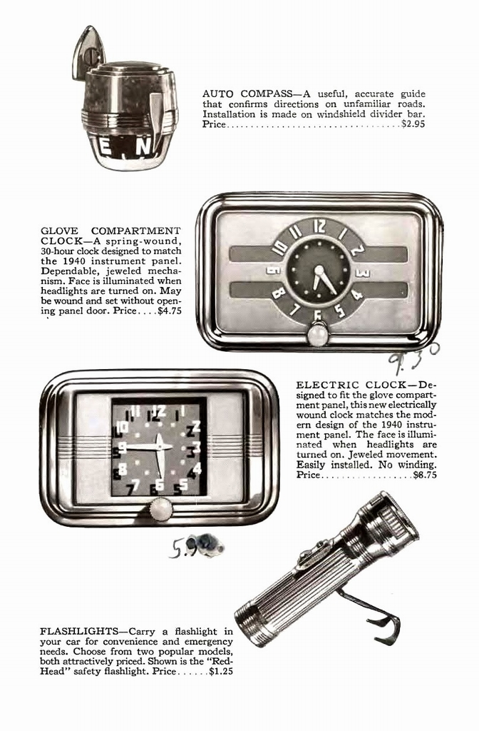 1940 chevrolet accessories booklet. Cars Review. Best American Auto & Cars Review