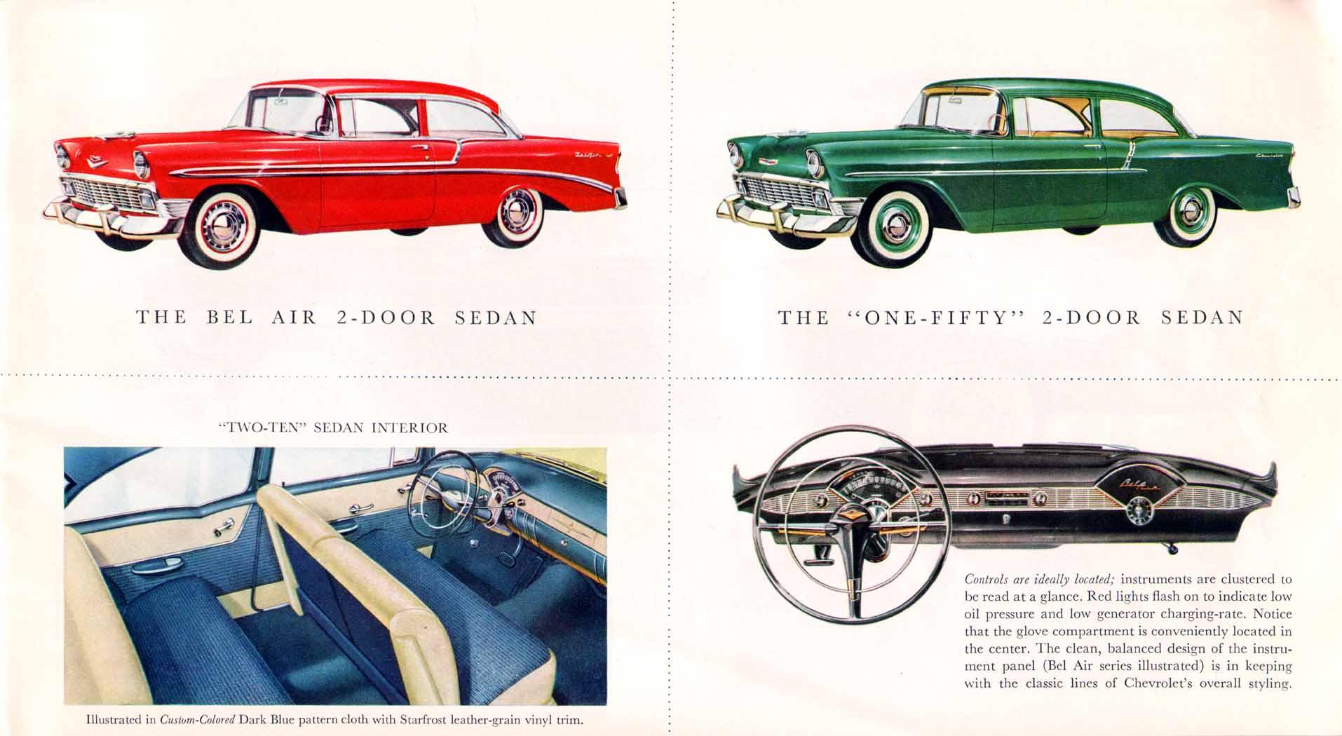 1956 chevrolet prestige brochure. Black Bedroom Furniture Sets. Home Design Ideas