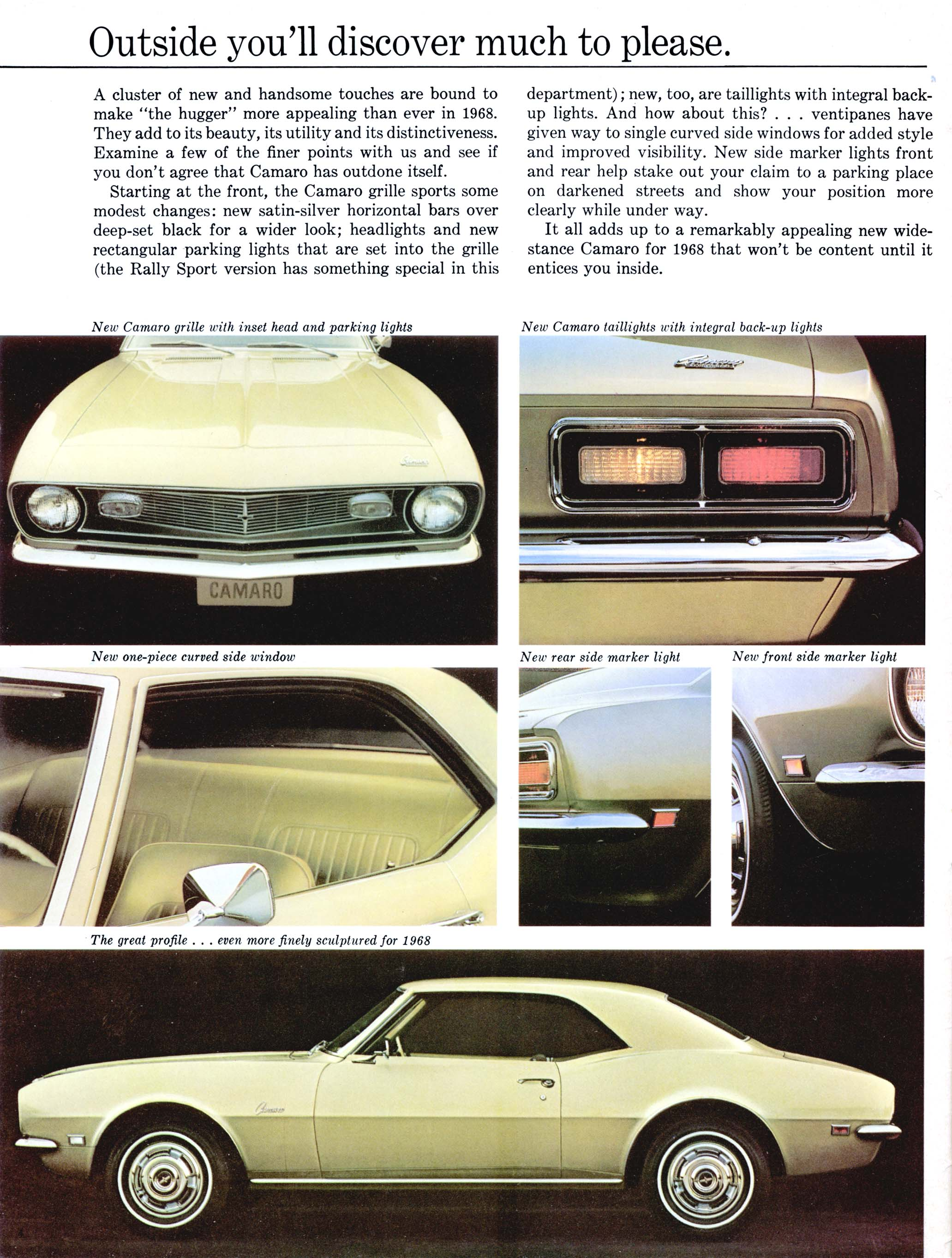 1968 Chevrolet Camaro Brochure Ad Full Size Image