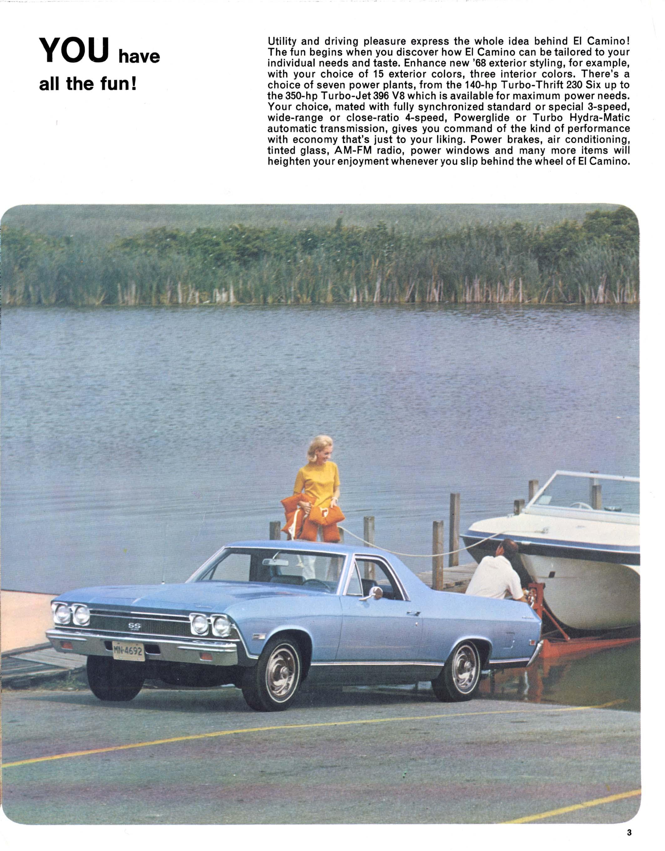 1968 Chevrolet El Camino Brochure Ss N 03