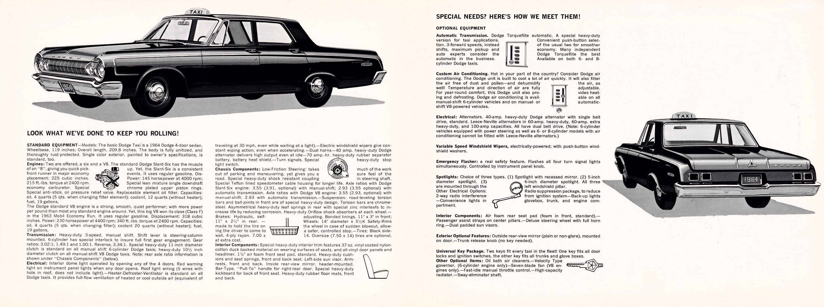 1964 Dodge Taxi Brochure Leece Neville Pad Mount Alternator Wiring Diagram Full Size Image