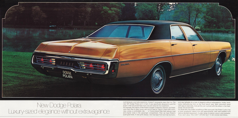 73 1971 Polara Dodge Brougham Hardtop Sedan Police 4 Door Monaco Brochure