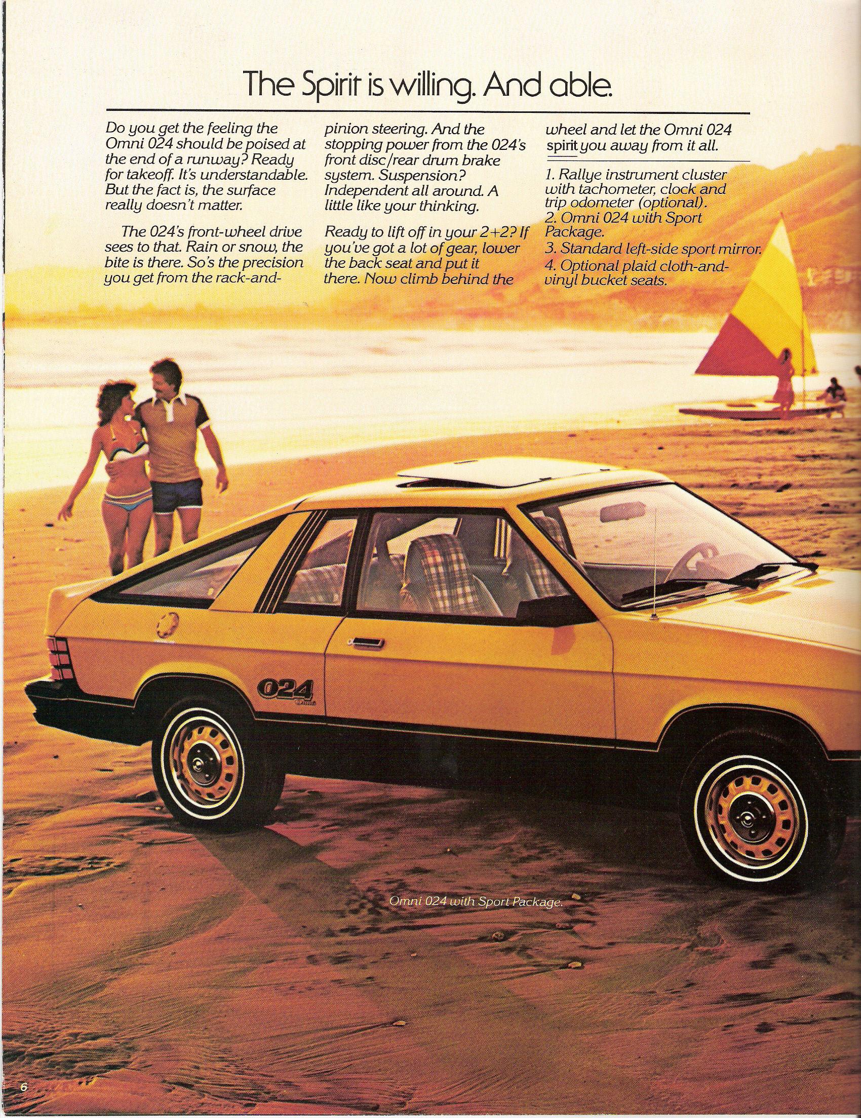 1979 Dodge Omni  Automobile Brochure Car  MINT Cond