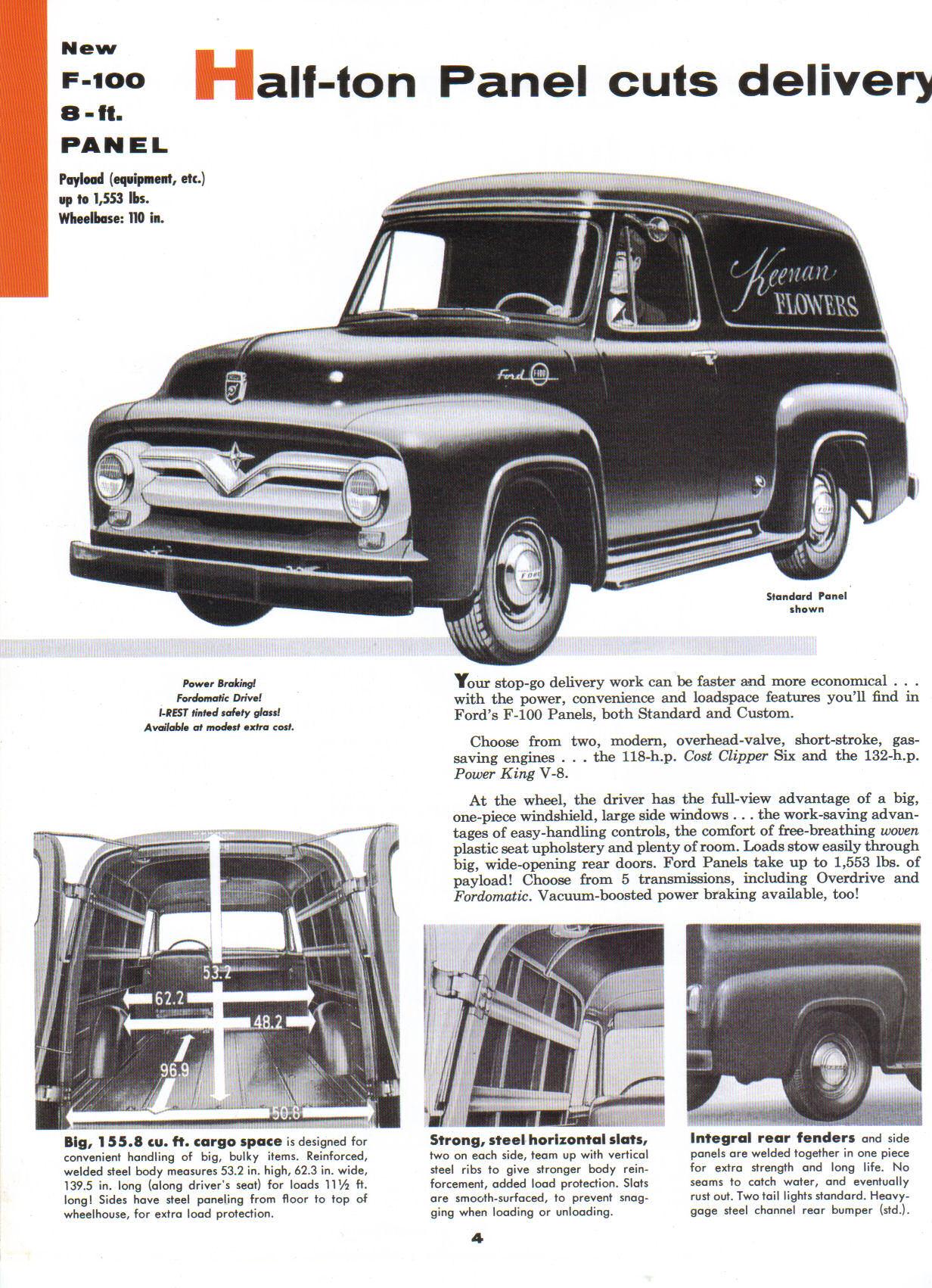 Directory Index Fmc Trucks Vans 1955 And Ford F F100 Rear Bumper 100 04