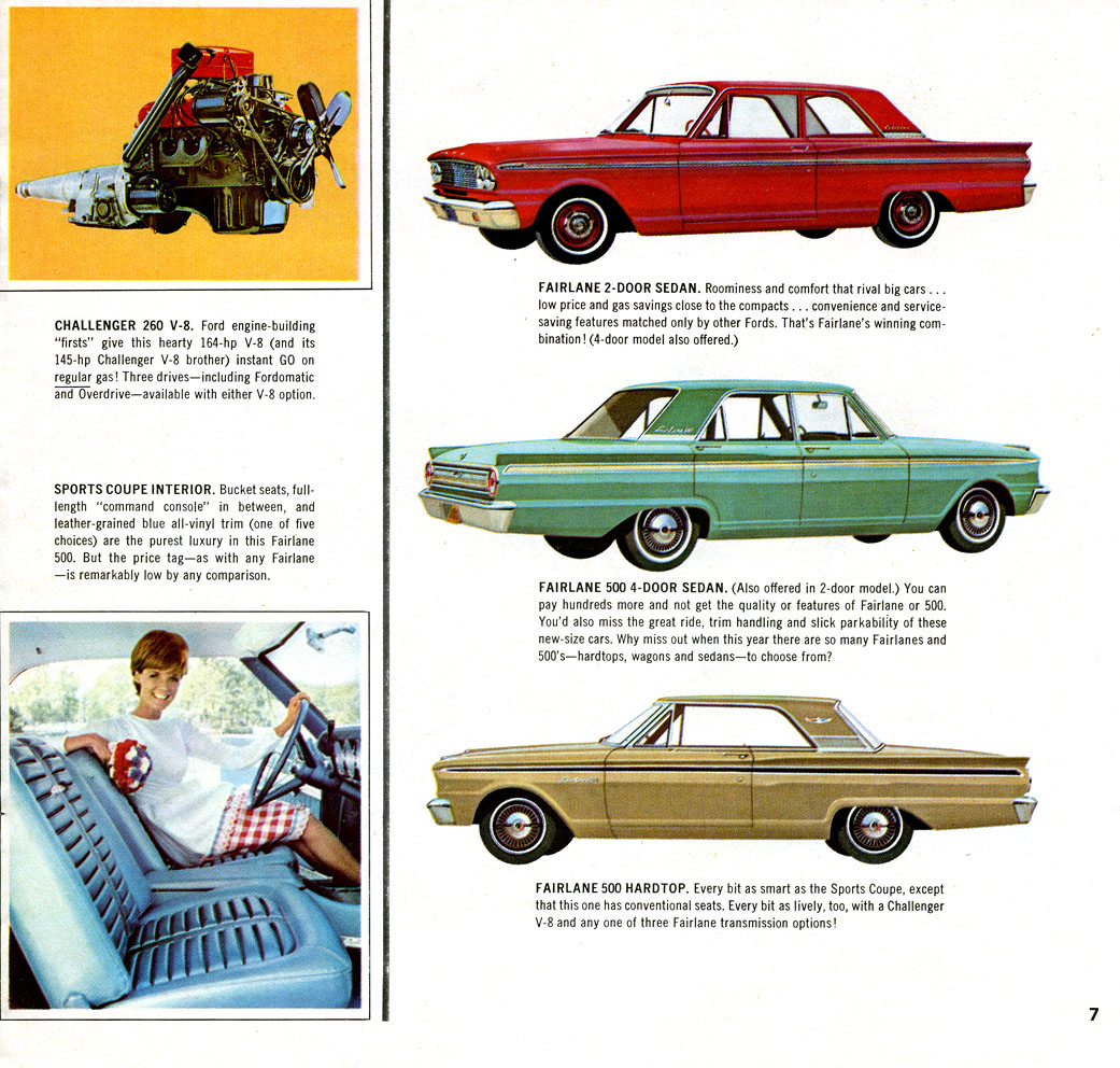 Directory Index Ford 1963 Brochure 1 1964 Fairlane Bucket Seats 07