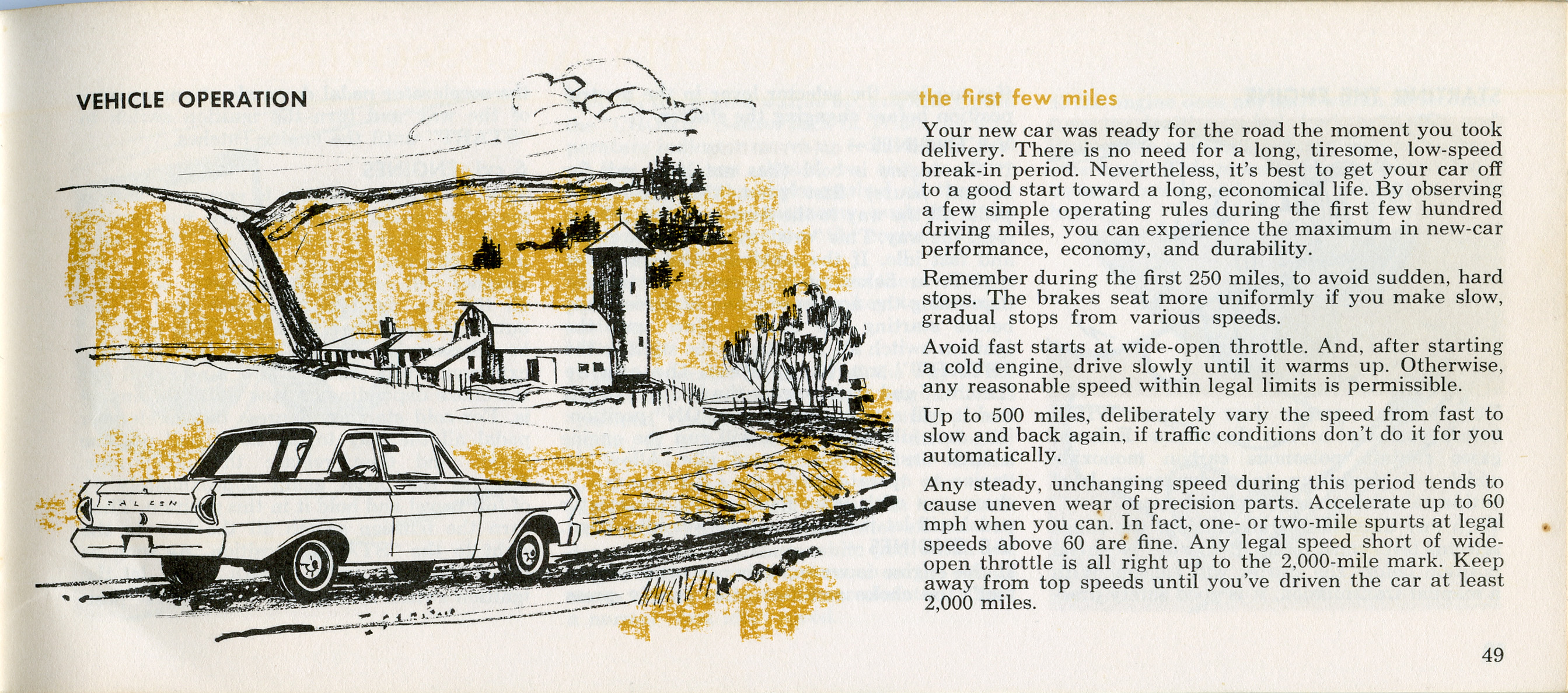 1964  FORD FALCON OWNERS MANUAL
