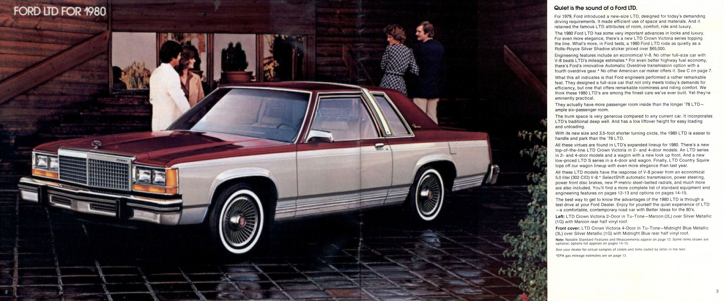 1980 Ford Ltd Brochure Rev Crown Victoria Full Size Image