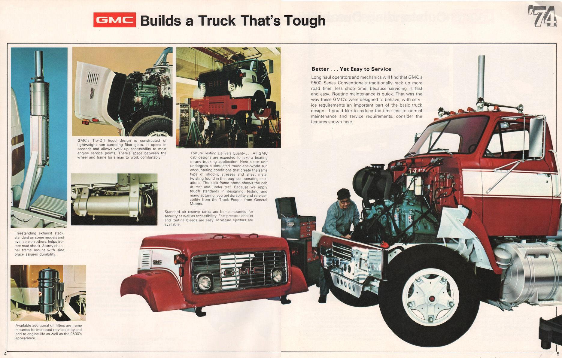 1974 Gmc 9500 Truck Brochure