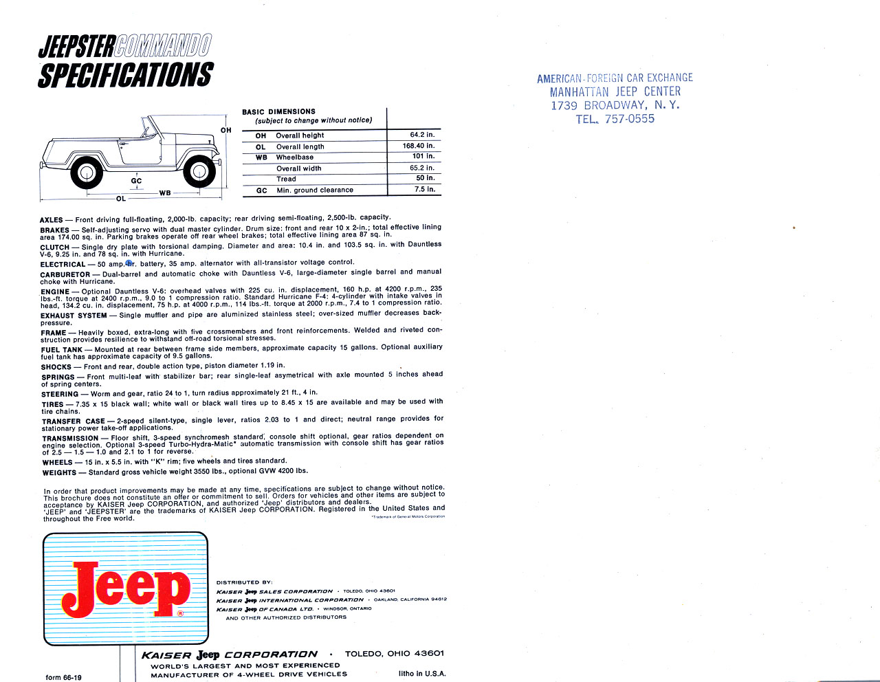 Directory Index: Jeep/1966_Jeep/1966_Jeepster_Commando_Brochure on