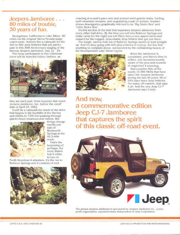 1982 Jeep CJ7 Limited Edition Jamboree 4.2L Rust Free Survivor ...