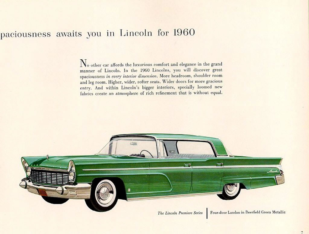 Directory Index Lincoln 1960 Lincoln 1960 Lincoln Brochure