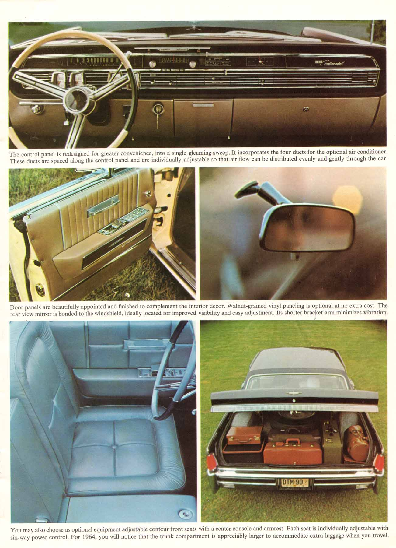 directory index lincoln 1964 lincoln 1964 lincoln continental brochure. Black Bedroom Furniture Sets. Home Design Ideas