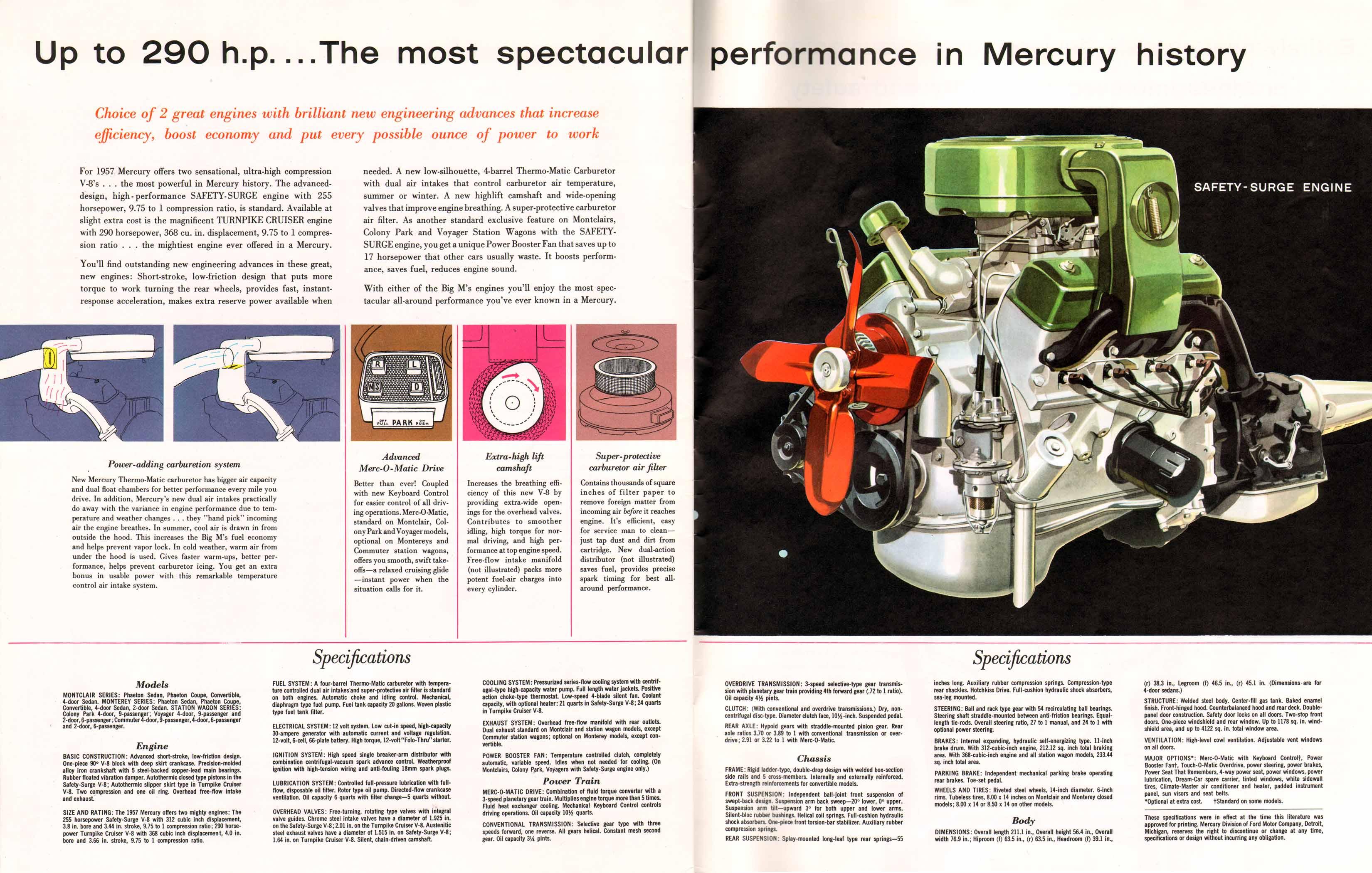 Directory Index Mercury 1957 Mercury 1957 Mercury Brochure