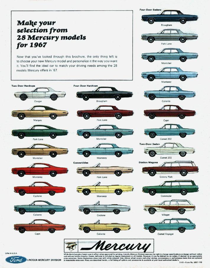 Directory Index Mercury 1967 Mercury Album 001