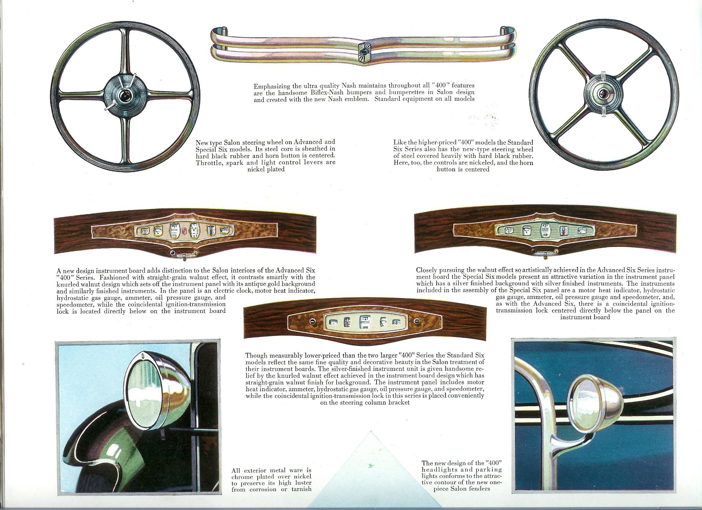six panel brochure