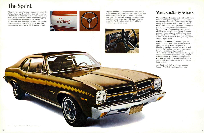 1971 Pontiac Ventura Ii Brochure Canadian